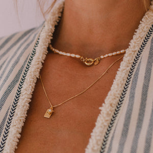 Nautical Pearl Necklace