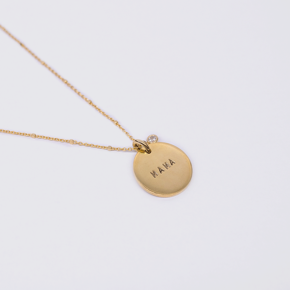 Mama Coin Necklace - Ball Chain