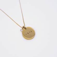 Load image into Gallery viewer, Mama Coin Necklace - Box Chain