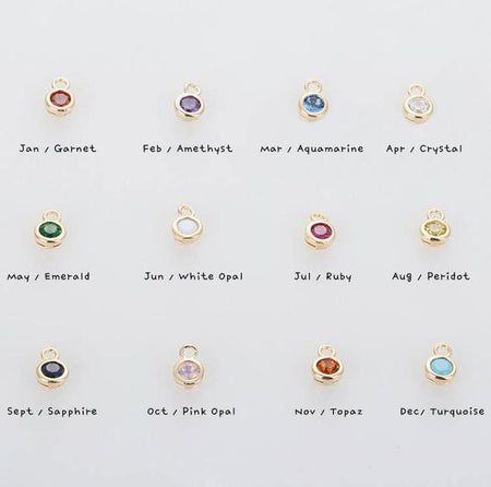 Birthstone Galaxy Hoop