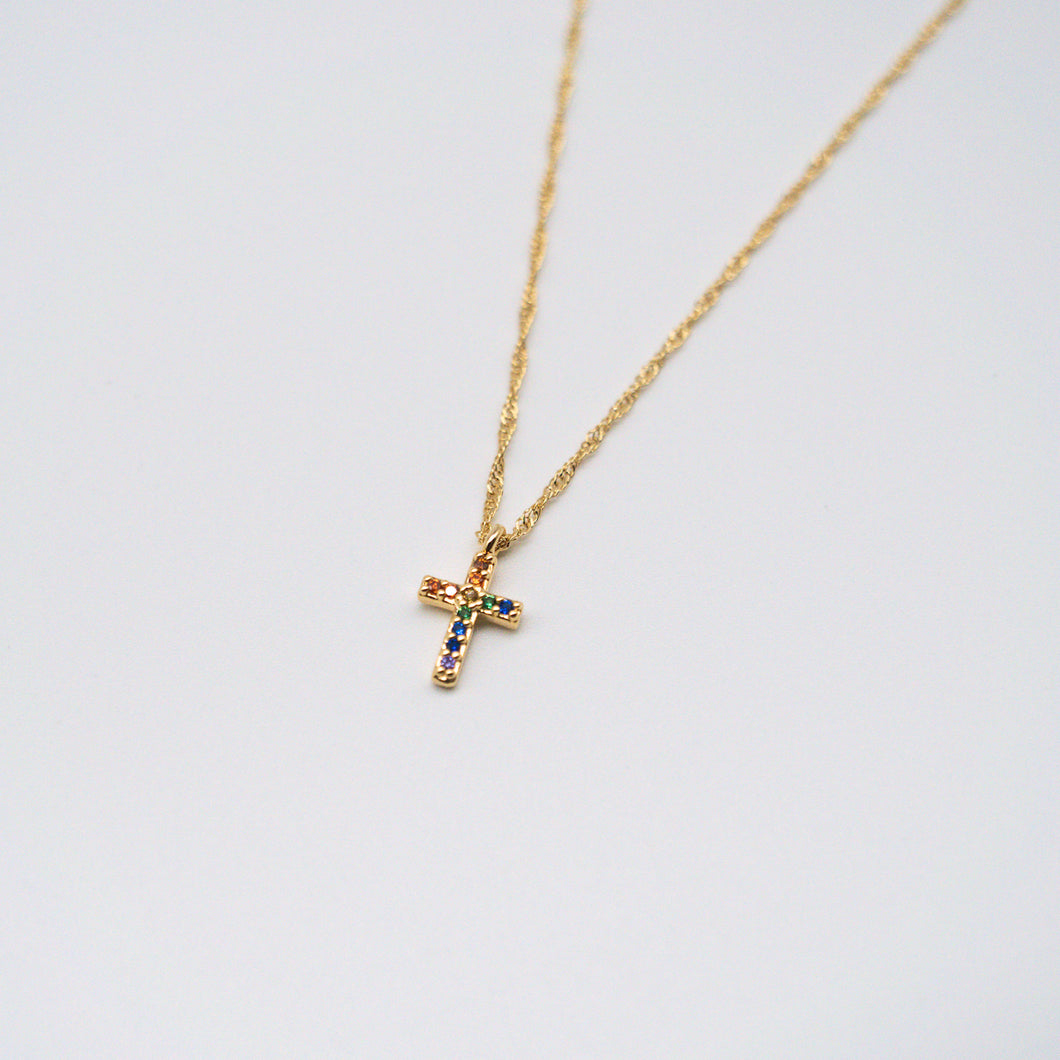 Festive Cross Necklace