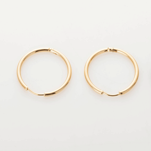 Gold Hoop - pair