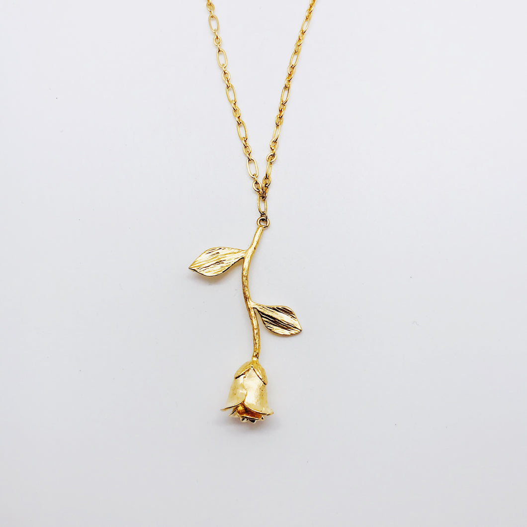 Rose Link Chain Necklace