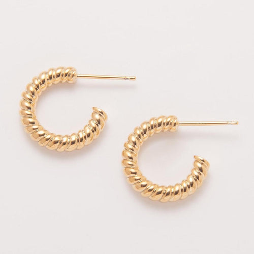 Twisted earring pair