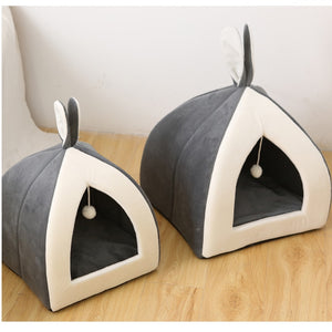 Rabbit Ear washable Cat Warm Bed