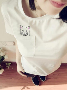 Pocket Cat T-Shirts With A Hidden Surprise