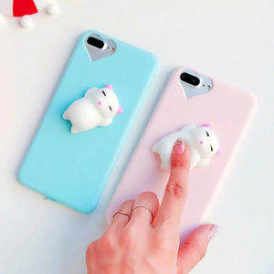 3D Squishy Doll Back Case for iPhone