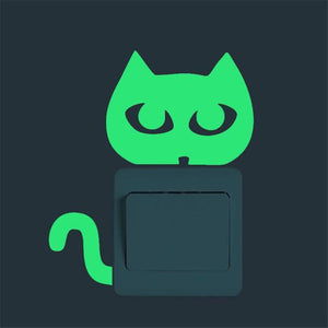 Fluorescent Cat Switch Decal