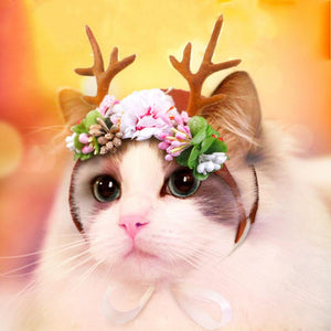 Christmas Cat Hair Accessories