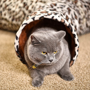 Cat Tunnel Leopard Print