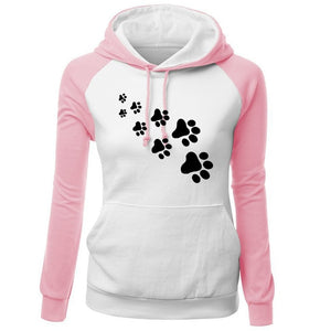 Fleece Women's Sportswear CAT PAWS Hoodie