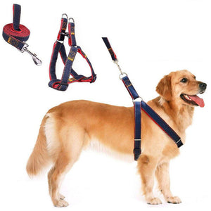 Adjustable Jeans Dog Leash Harness