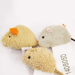 3pc Stuffed Mices Cat Toy
