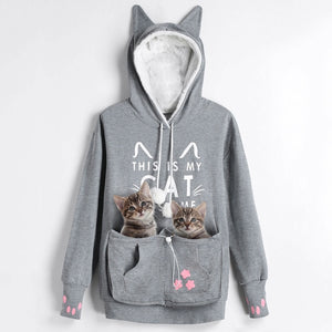 New Cat Lovers Kangaroo Pouch Hoodie