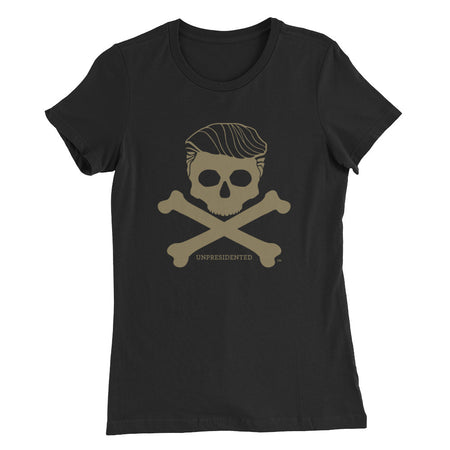 Women's Slim Fit T-Shirt, Gold Logo