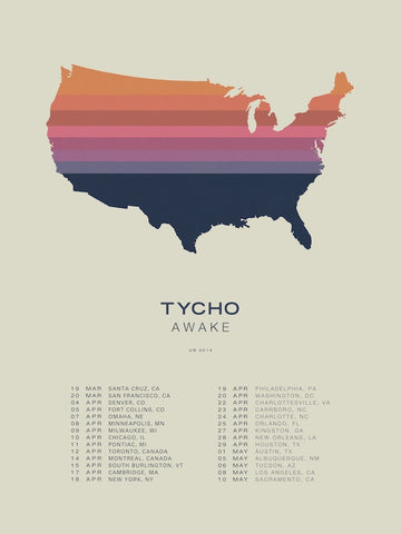 U.S. Tour Poster (Lithograph)