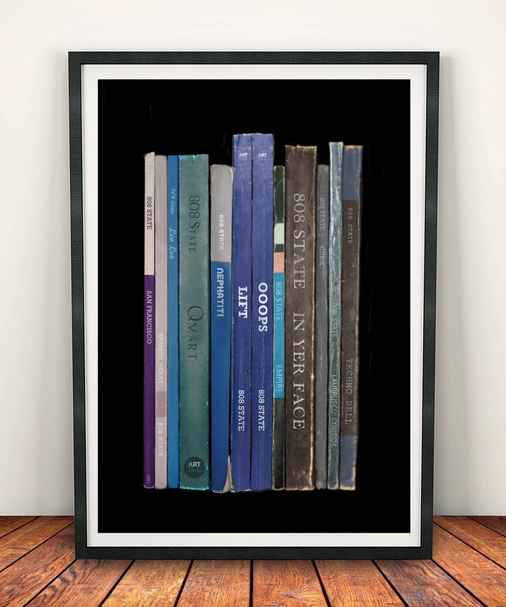 808 State 'Ex:el' Album Penguin Book Spine Print
