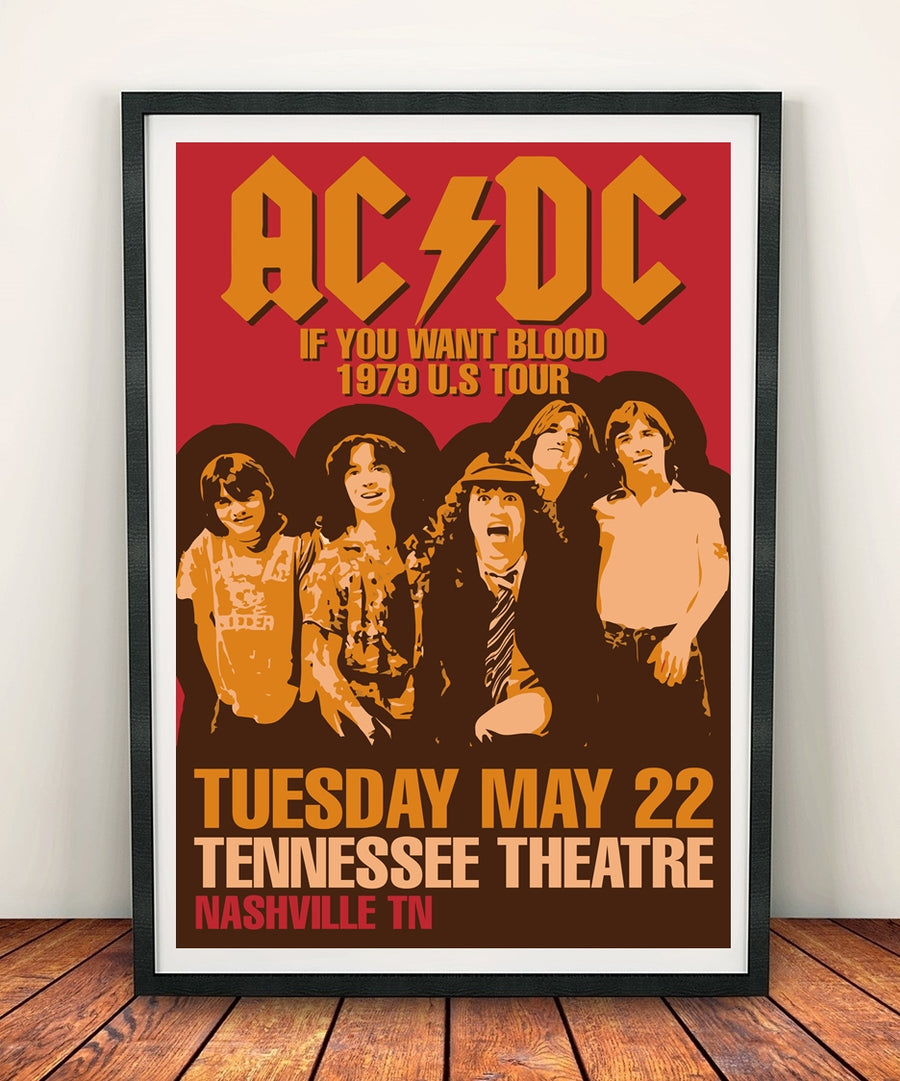 AC/DC 'If You Want Blood' Print