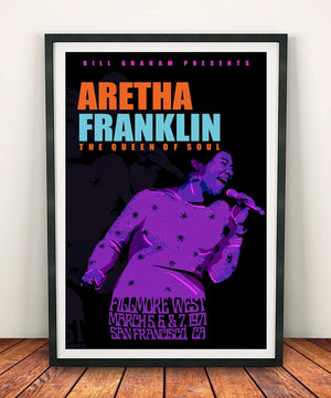 Aretha Franklin 'Fillmore West 1971' Print