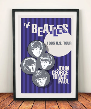 The Beatles 'U.S Tour 1965' Print