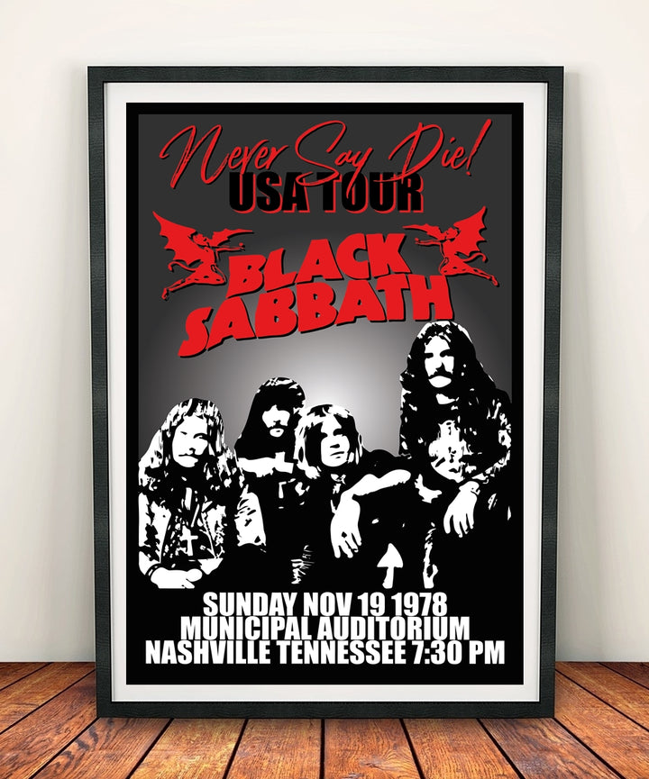 Black Sabbath 'Never Say Die' Print