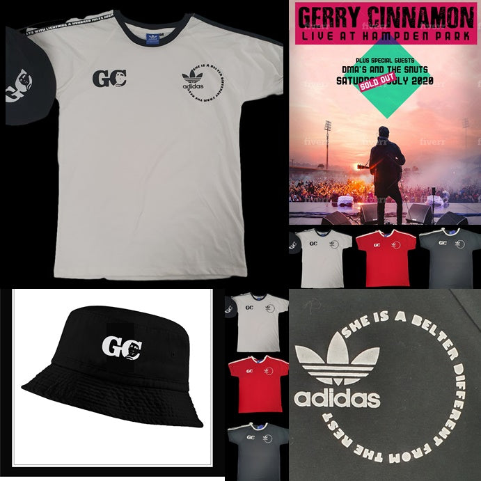 GC 'Belter' Custom 3 Stripe Retro T-Shirt & Bucket Hat Set Plus Free Print