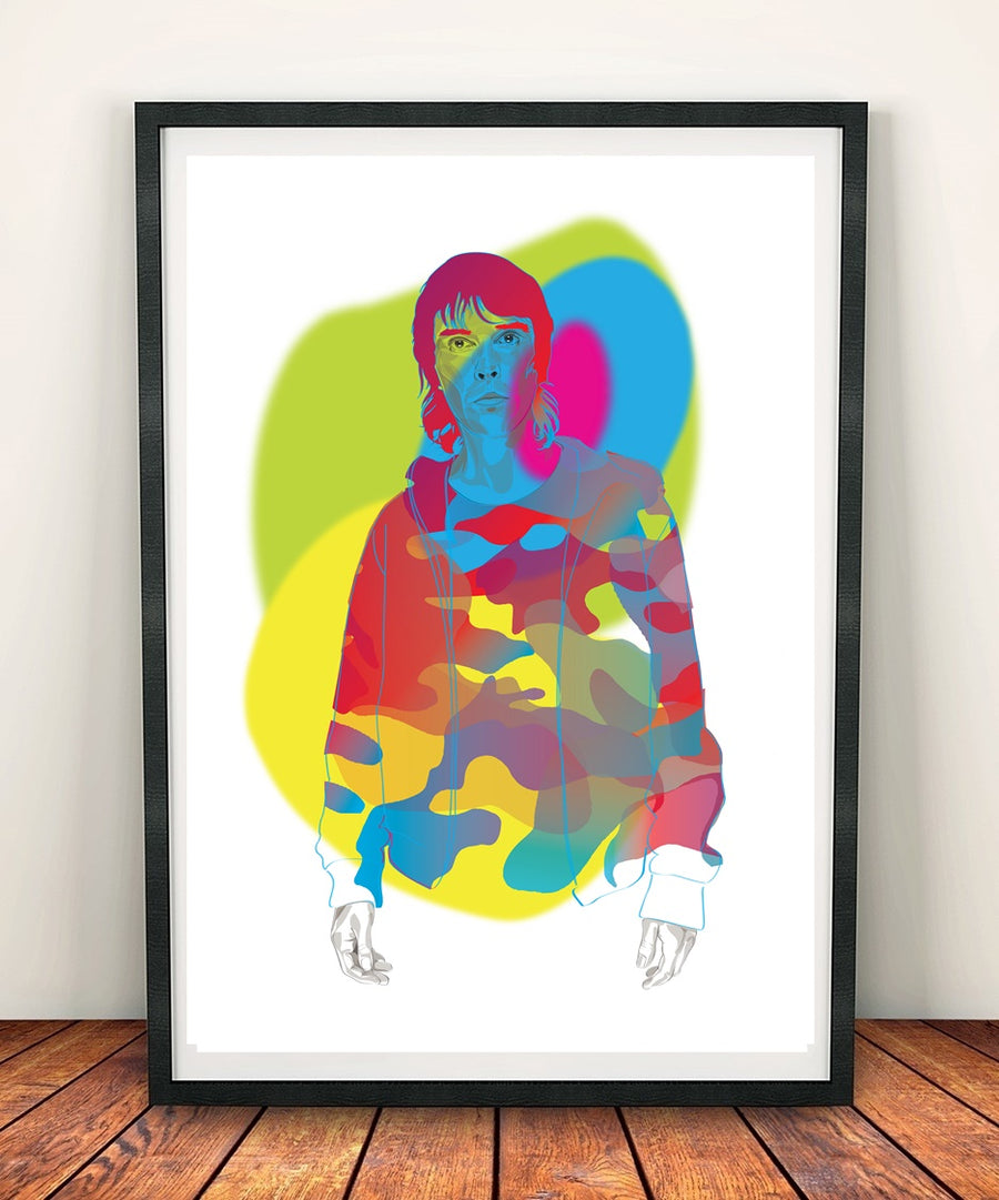 "Ian Brown Camoflage ""You Carnt See Me""Print"