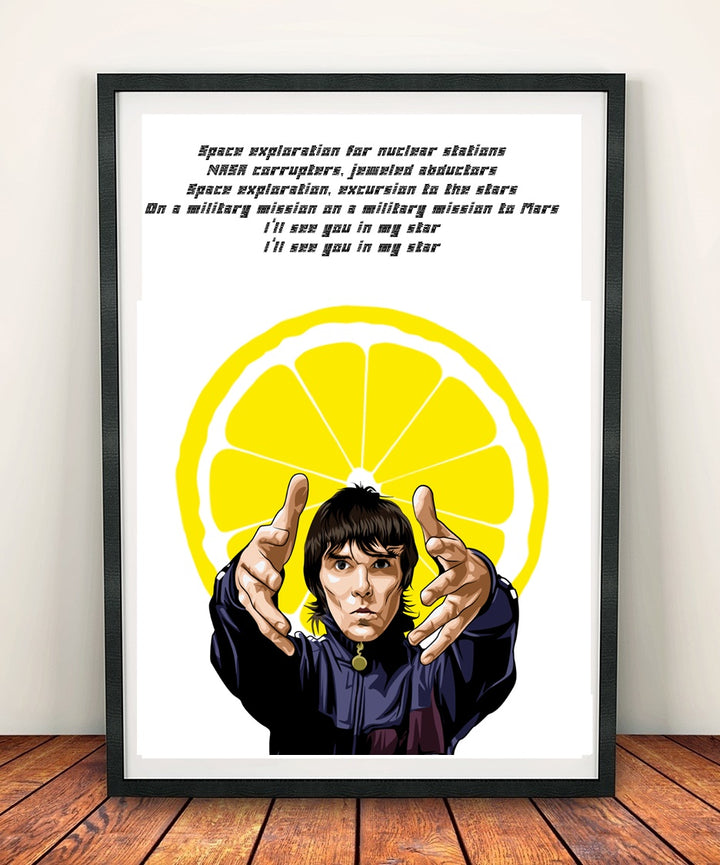 Ian Brown 'My Star' Print