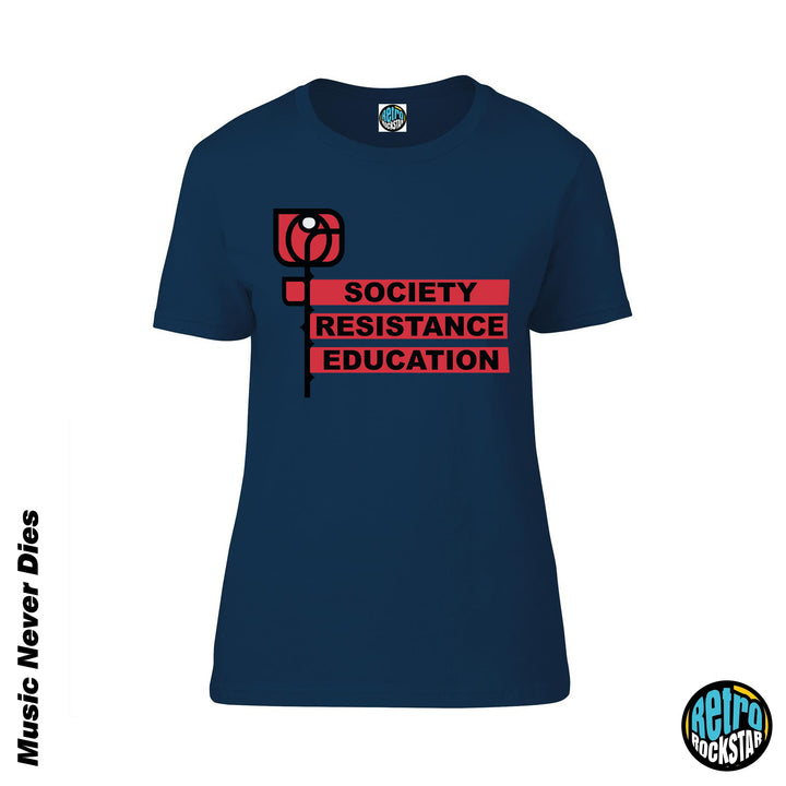 Ian Brown 'Society Resistance Education' Ladies Fit Tshirt
