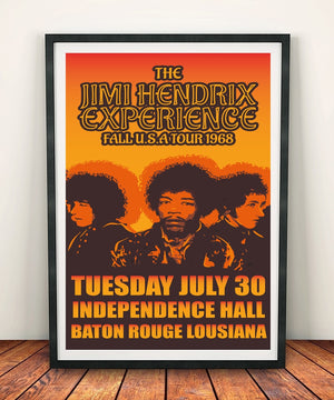 The Jimi Hendrix Experience 'Independence Hall 1968' Print