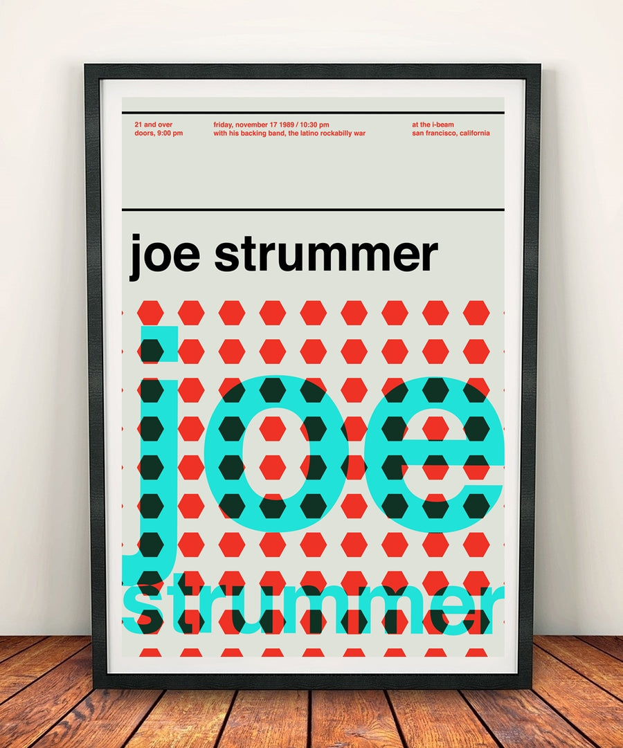 Joe Strummer 'At The I-Beam 1989' Print