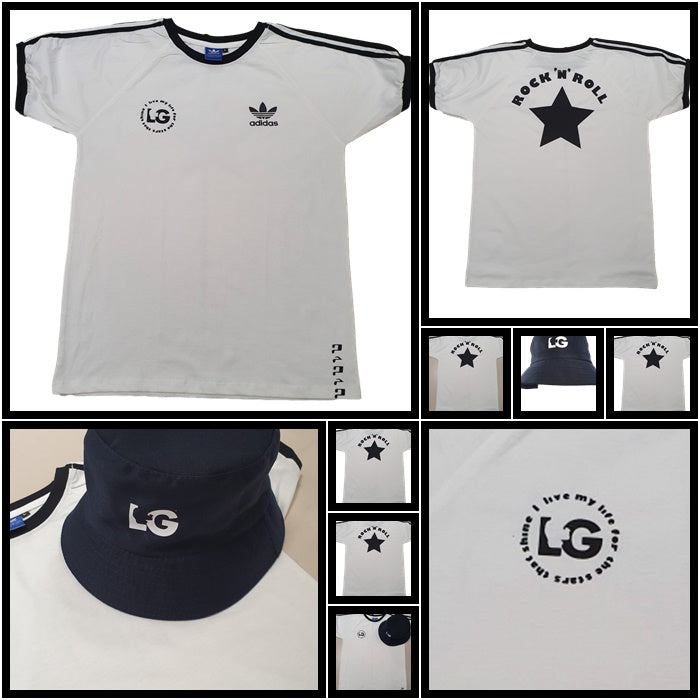 LG 'Rock N Roll' Bespoke T-Shirt & Bucket Hat Set