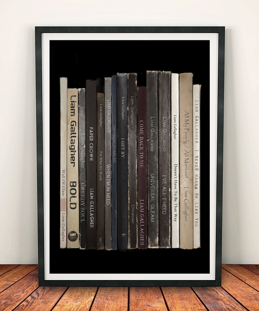 Liam Gallagher 'As You Were' Album Penguin Book Spine Print