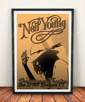 Neil Young 'Shakespeare Theatre 1971' Print