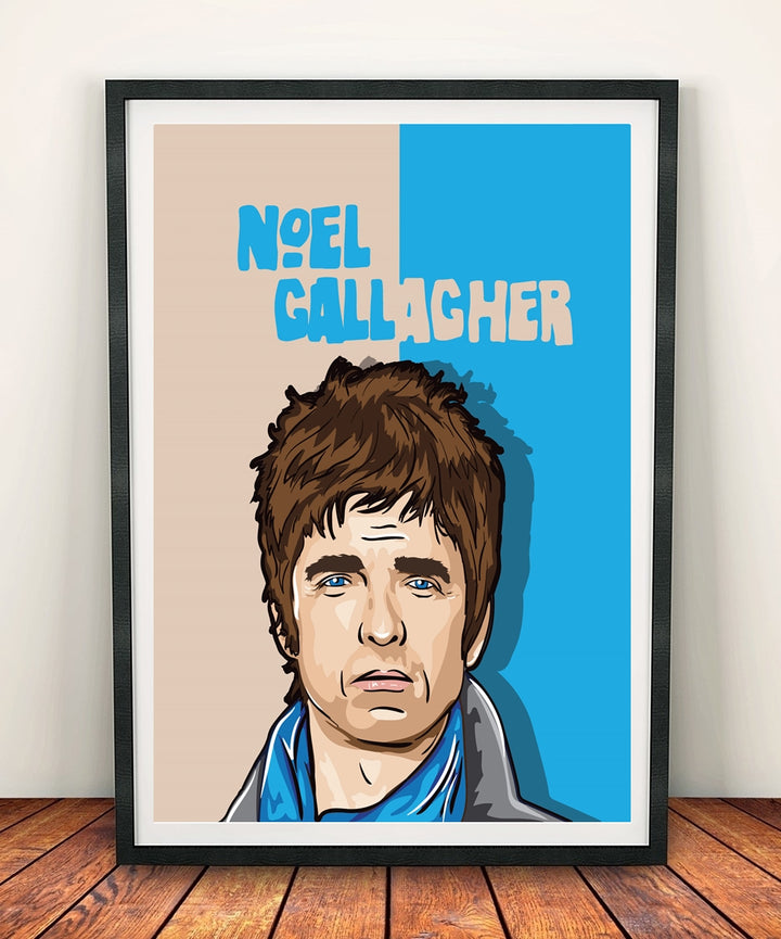 Noel Gallagher 'In The Heat Of The Moment' Print