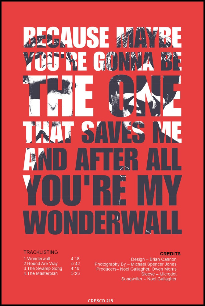 Oasis 'We need each other ' Print