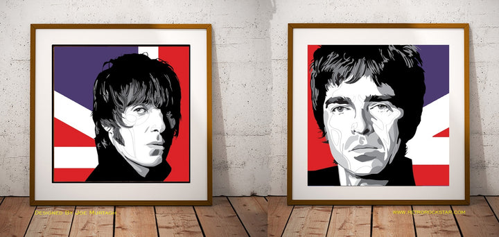 Liam Gallagher & Noel Gallagher  'We Need Each Other Double Print Set By Artist Joe Murtagh