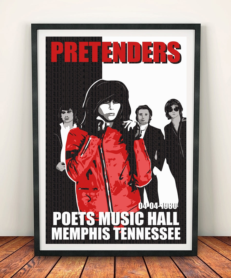 The Pretenders 'Poets Music Hall' Print