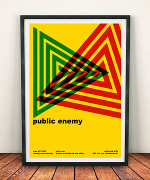 Public Enemy 'At The Nightclub 9:30 1989' Print