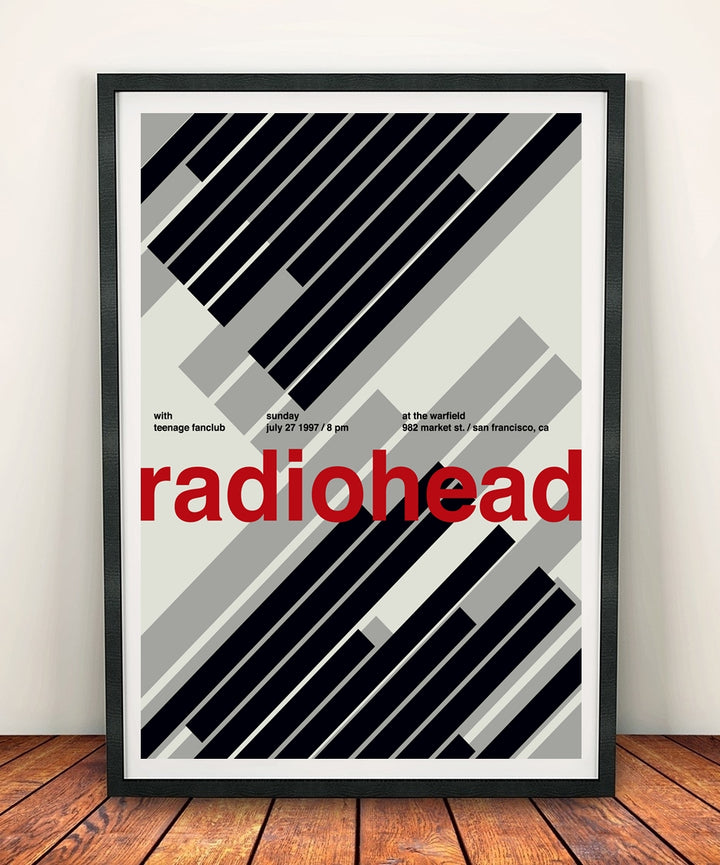 Radiohead 'At The Warfield 1997' Print
