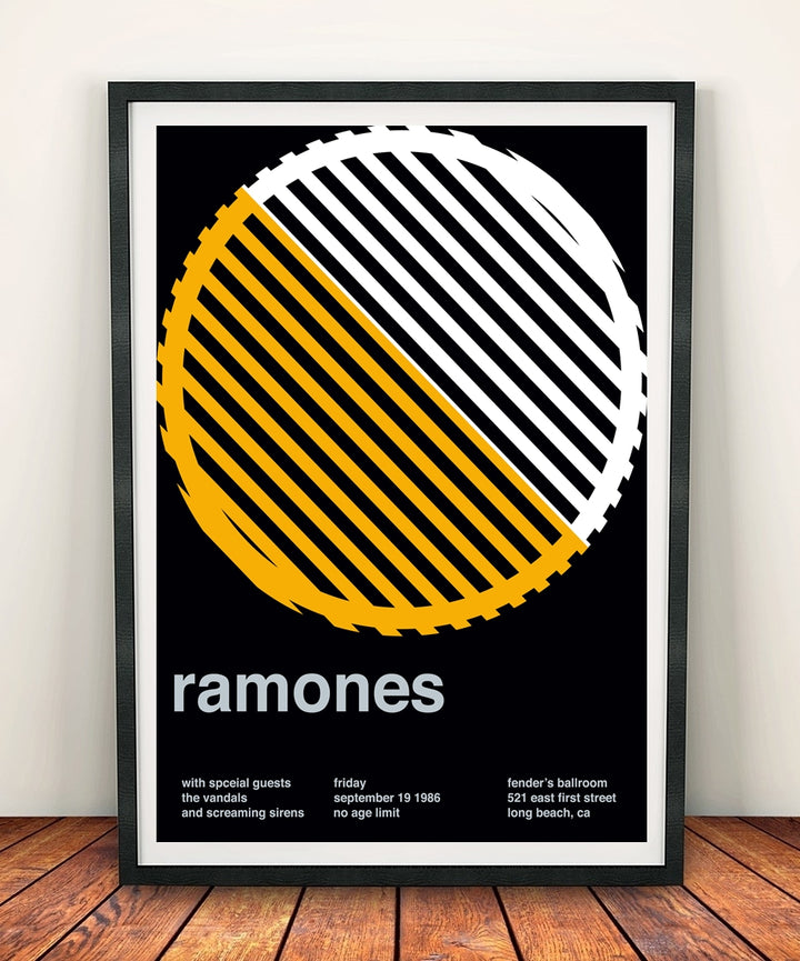 Ramones 'At Fenders Ballroom 1986' Print