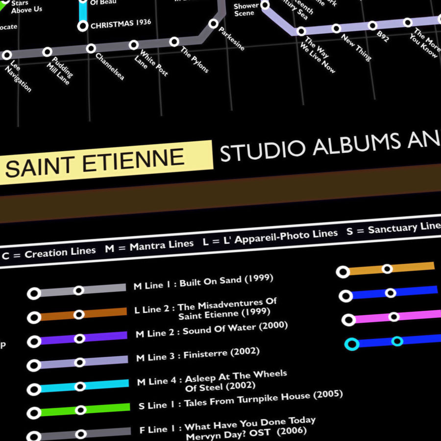 Saint Etienne Music Metro Map
