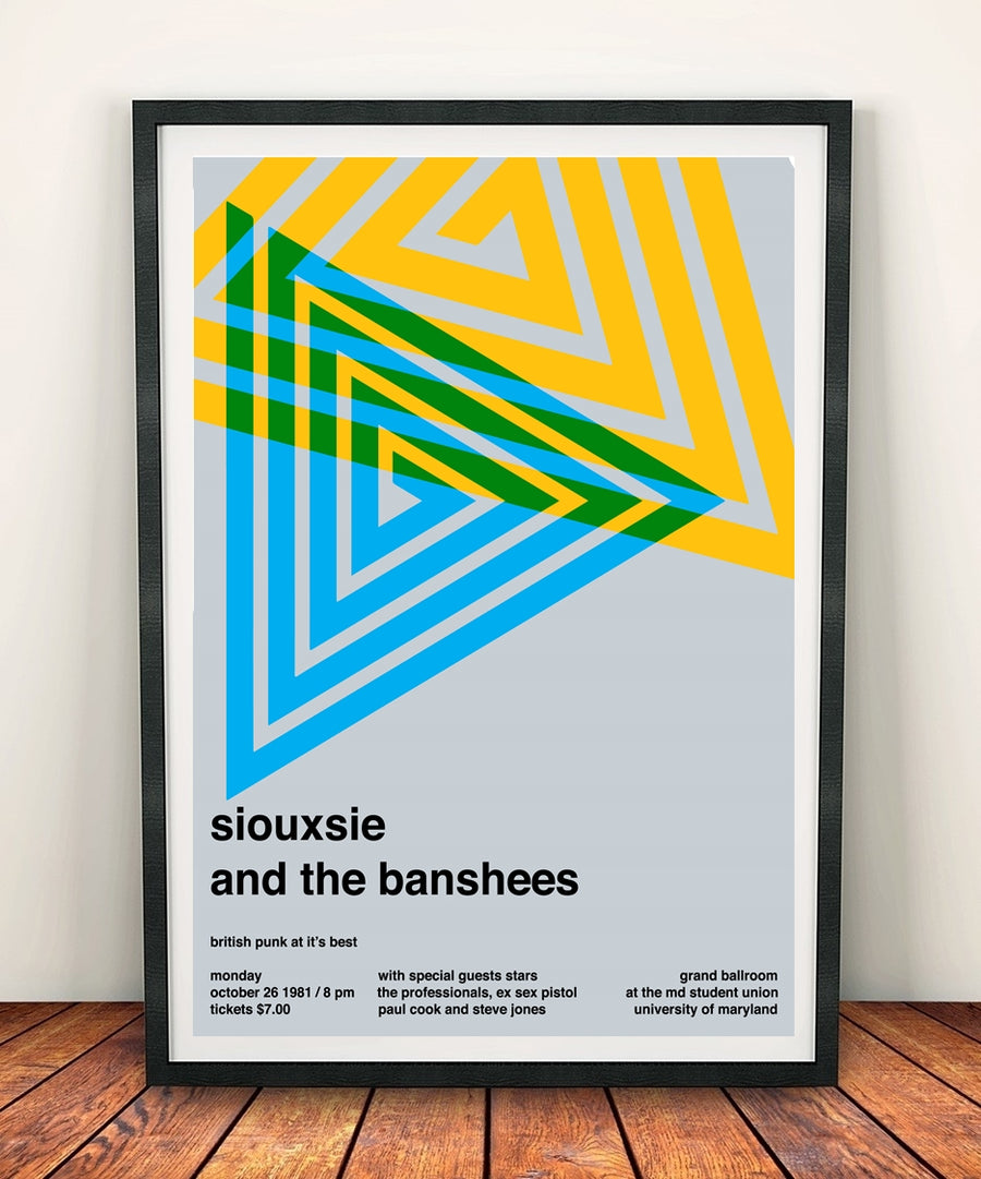 Siouxsie And The Banshees 'At The Grand Ballroom 1981' Print