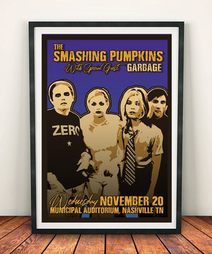 The Smashing Pumpkins 'Municipal Auditorium 1996' Print