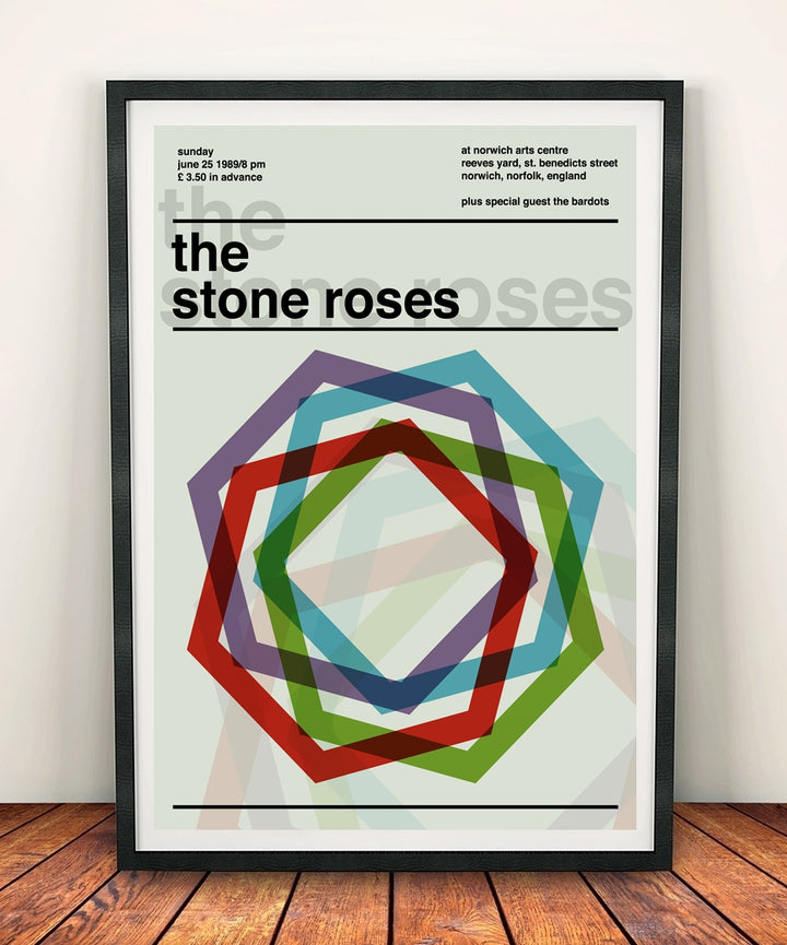 The Stone Roses 'Norwich Arts Centre 1989' Print