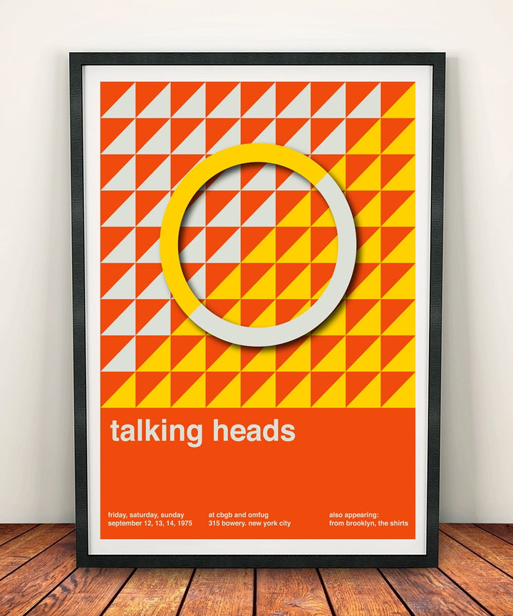 Talking Heads 'At CBGB & OMFUG 1975' Print