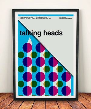 Talking Heads 'At CBGB & OMFUG August 1975' Print