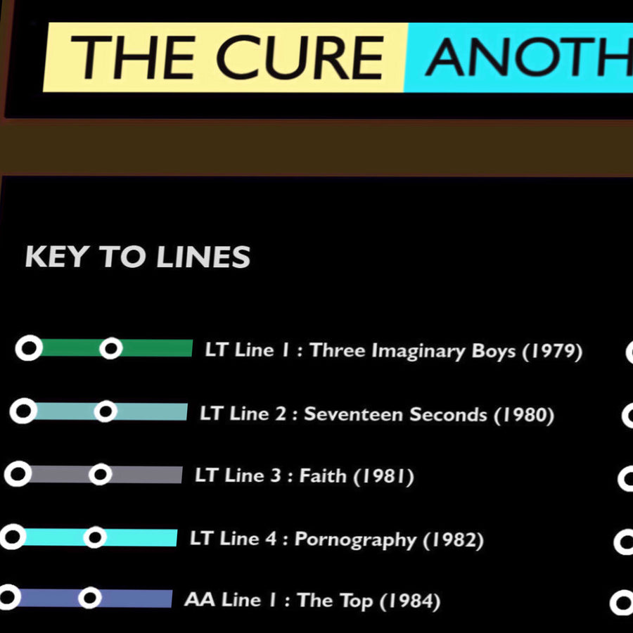 The Cure Music Metro Map