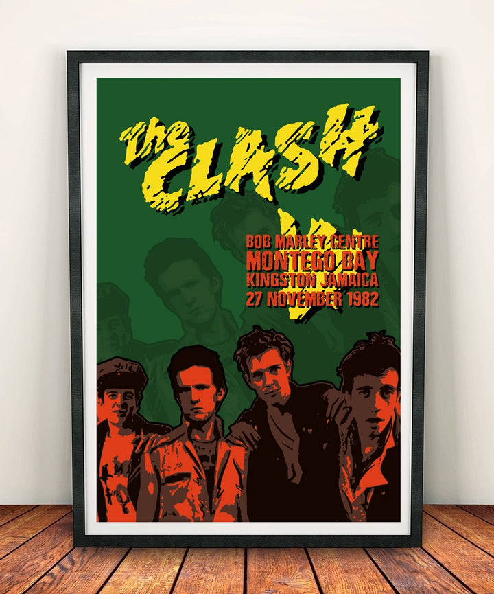 The Clash 'Bob Marley Center' Print