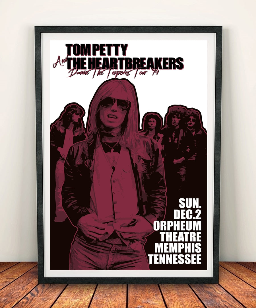 Tom Petty And The Heartbreakers 'Damn The Torpedoes Tour 1979' Print